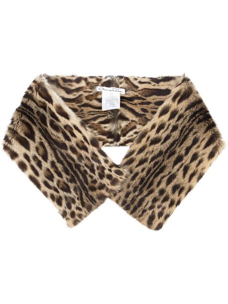 oscar de la renta fur women scarf brown