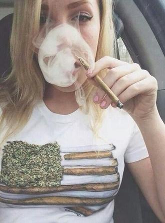shirt weed flag