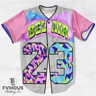 shirt unisex jordan jersey belair colorful dope 23