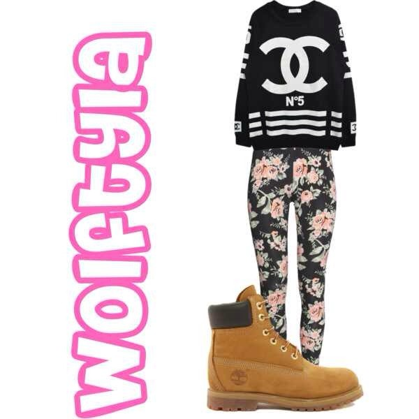 pants flowers shoes sweater