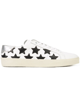 women sneakers leather white cotton print shoes