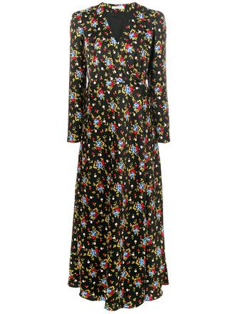dress maxi dress maxi women floral print black