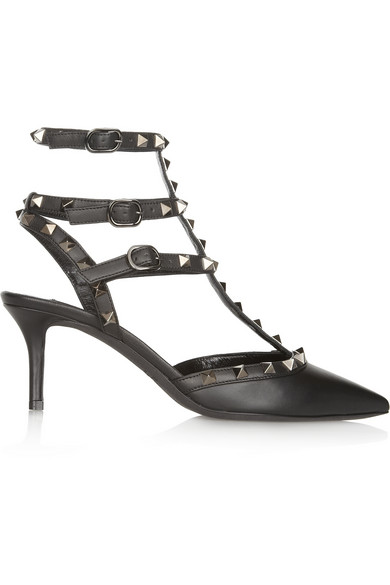 Valentino | Studded leather pumps | NET-A-PORTER.COM