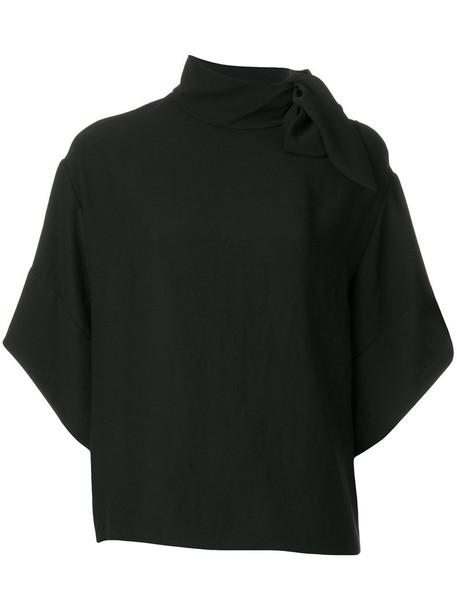 Iro blouse loose women fit black top