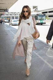 shoes,pumps,fringe shoes,fringes,kate beckinsale,satin,pants,cardigan