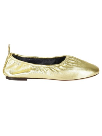 classic gold shoes