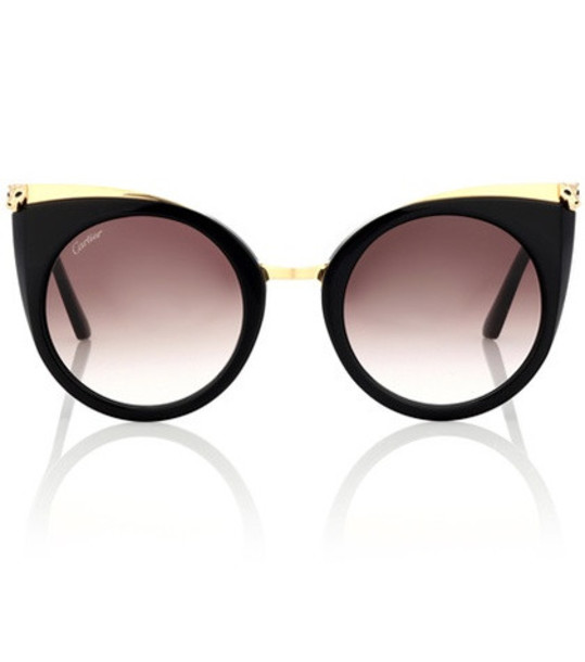 Cartier Eyewear Collection Panthère de Cartier cat-eye sunglasses in black