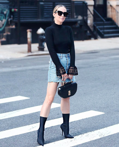 e6b95af11d6 shoes bell sleeves tumblr date outfit boots black boots pointed boots sock  boots skirt mini skirt
