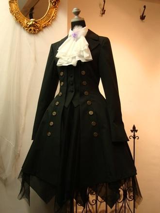 coat black trench coat cute kawaii kawaii accessory kawaii dark dark goth gothic lolita lolita