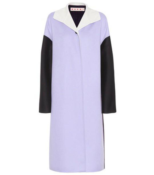 MARNI coat wool purple