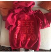 sweater,kanye west,hoodie,red