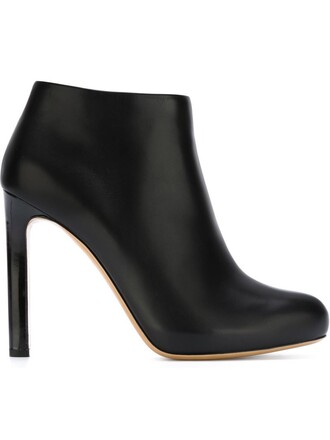 heel high heel high boots ankle boots black shoes