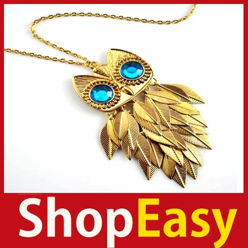 [ShopEasy] Vintage Crystal Jewelry Leaf Leaves Bead Owl Pendant Chain Necklace 07 Save up to 50%-in Chain Necklaces from Jewelry on Aliexpress.com | Alibaba Group
