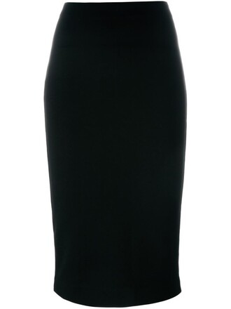 skirt pencil skirt midi black