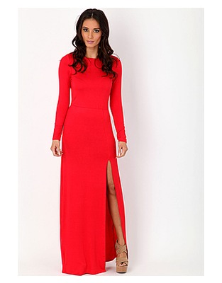 Larysa long sleeve jersey maxi dress