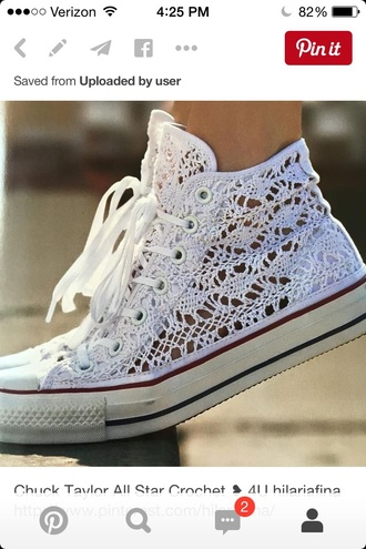 shoes converse chuck taylor all stars cute cute shoes summer crochet lace