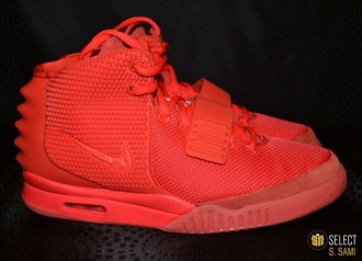 shoes kanye west yeezy nike air yeezy 2 red october shorts red