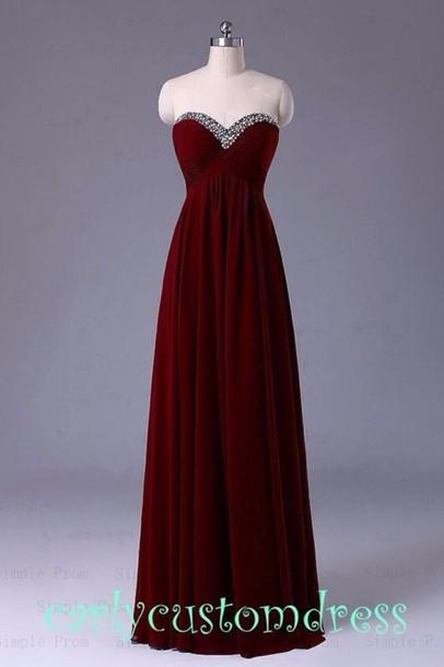 dress burgundy maroon prom dress prom dress long prom dress red prom dress  red dress red 3f7cad191
