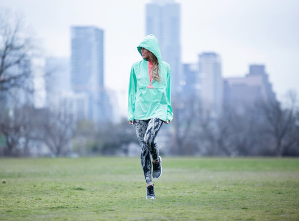 happily grey blogger windbreaker printed leggings sportswear jacket underwear leggings jewels mint jacket