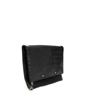 Mango | Mango Faux Leather Fold Over Shoulder Bag at ASOS