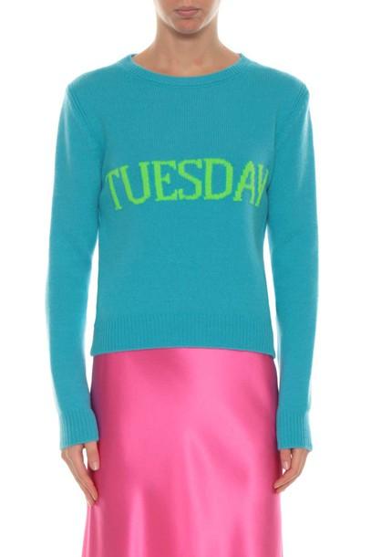 Alberta Ferretti sweater rainbow
