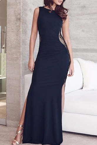 dress zaful sleeveless sleeveless dress black sleeveless dress lace dress black lace dress slit dress black slit dress double slit dress black double slit dress