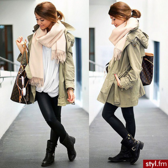 scarf military jacket rosé fall outfits louis vuitton