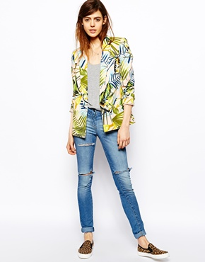 ASOS | ASOS Blazer in Tropical Print at ASOS