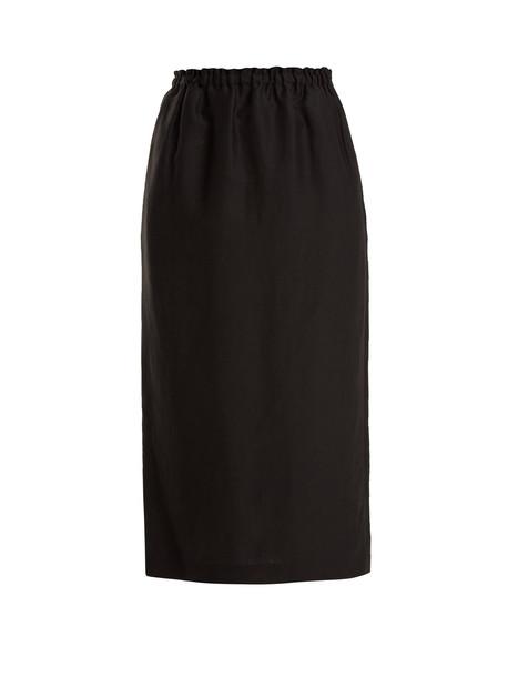 RAEY Elasticated-waist skirt in black