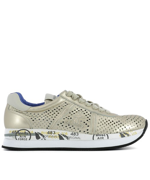 Premiata sneakers gold leather shoes