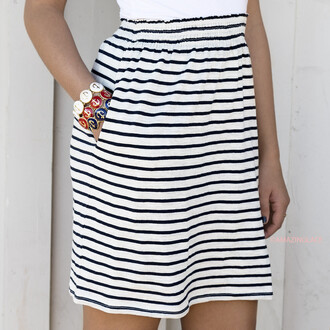 skirt high waisted white navy high waisted skirt amazinglace amazinglace.com striped skirt stripes navy and white stripes