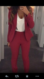 jacket,suits,pants,shirt,red,matching set,two-piece,blazer,smart,sophisticated,cute,blouse,red blouse,red pants,classy,rich fashion,amazing black elegant,high waisted,suit,luxury,co-ordinaries,burgundy,burgundy suit,top,burgundy jacket,burgundy pants,jumpsuit,suit jacket,pants suit,high waisted pants