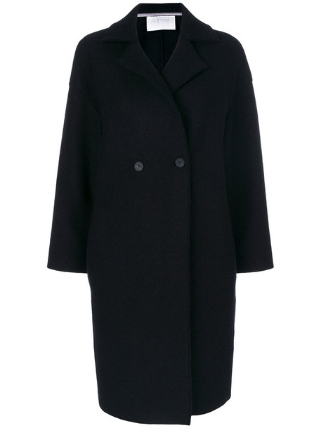 HARRIS WHARF LONDON coat double breasted women black wool