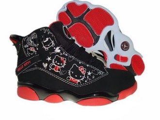 shoes red hello kitty