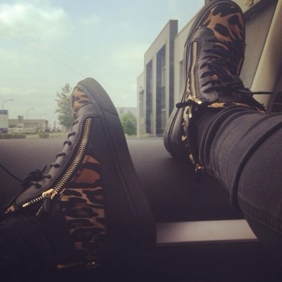 zippers shoes black cheetah cheetah print cheetah print shoes gold tennis shoes sneakers