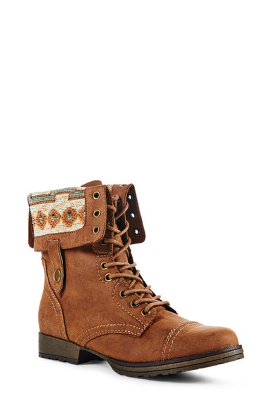 shoes combat boots cognac cognac shoes aztec lace up boots