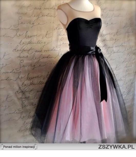 dress black pink dress