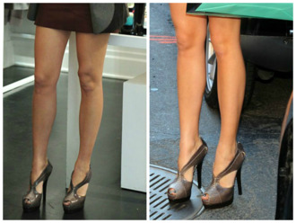 blake lively shoes heels fendi classy sexy new york city serena van der woodsen