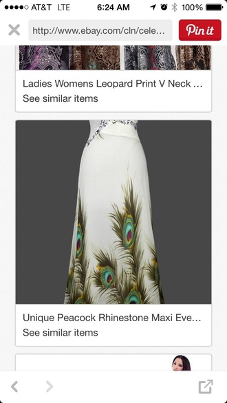 dress prom peacock dress wedding dress