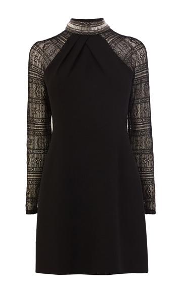 Dress with lace sleeve luxury women s dresses karen millen 210 karen