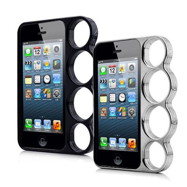 Schlagring Case Knuckle Bumper Schutz Hülle Schale für Apple iPhone 5S 5 Cover