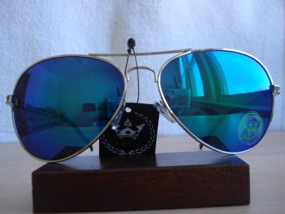 New Limited CHP Triple Crown Designer Blue Green Mirror Aviator Men Sunglasses H | eBay