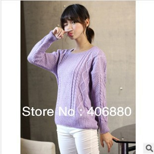 Solid long sleeved college sweater Casual light purple Japanese sweet pullover blouse Free shipping-in Pullovers from Apparel & Accessories on Aliexpress.com | Alibaba Group