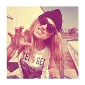 top,hipster,beanie,sunglasses,cat shirt