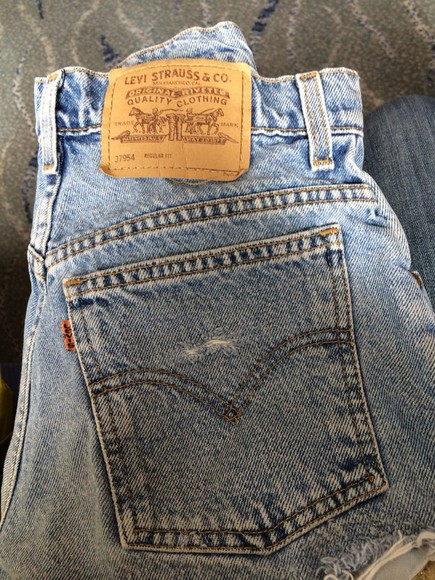 denim vintage levis shorts