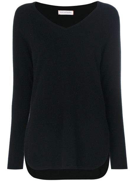 Chinti & Parker - cashmere v-neck shirt sweater - women - Cashmere - L, Black, Cashmere