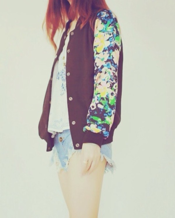 jacket flowers ariana grande floral pretty