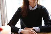 shirt,my theresa,striped shirt,blue and white,stripes,classy,back to school,school uniform