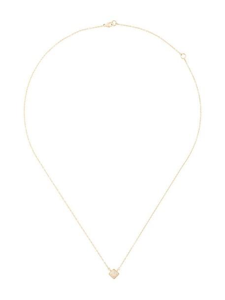 SARAH NOOR mini women necklace diamond necklace gold yellow grey metallic jewels