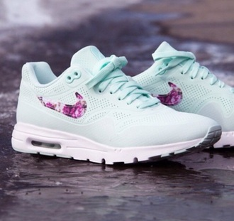 shoes mint floral nike air max
